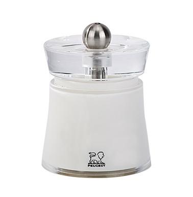 Peugeot Bali Acrylic Tuz Değirmeni 8 Cm Beyaz Renkli